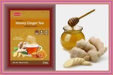 Instant Honey Ginger Tea Original 40 Tea bags - Pocas 100% Natural-Caffeine FREE