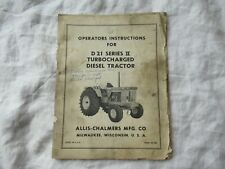 Allis Chalmers D21 Series II tractor operator's  manual turbocharged