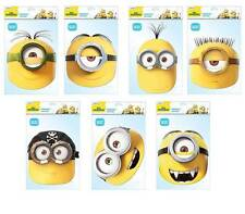 OFFICIAL Minions 2D Card Party Face Masks Mask lot Despicable Me World Book Day