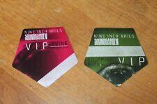 NIN Nine Inch Nails Soundgarden - 2 x unused Backstage Pass - FREE POSTAGE -