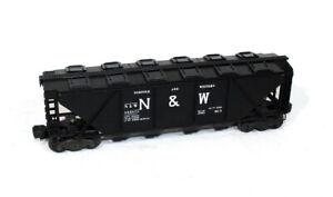 Postwar Lionel 6446-25 Black Norfolk & Western Covered Hopper~Nice Original!