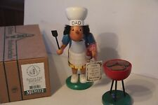 Erzgebirge Midwest Of Cannon Falls Smoker Figurine Barbeque Dad Germany Ulbricht