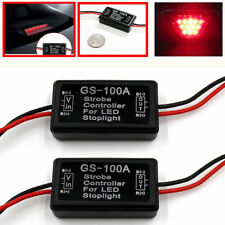 2x GS-100A LED Brake Stop Light Strobe Flash Module Controller Box For Vehicle