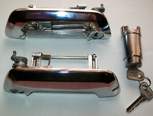 Fiat 124 sport coupe outer door handles, keys & trunk lock. All years 1967-76