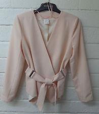 Women Ladies New Short Smart Wrap Long Sleeve Belt Blazer/Jacket COLOURS UK 8-16