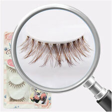 5 Pairs False Upper Eyelashes Brown Natural Lifelike Fake Eyelash Beauty Makeup