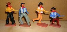 Plasty 4x Figur Cowboys Wild West Airfix Western Billy (4) Steckfigur
