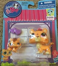 🐱 Littlest Pet Shop Bobble in Style Mommy Tiger #3593 & Baby Tiger #3594 😃