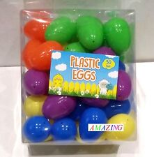 PLASTIC MINI EASTER / PARTY / GIFT / SURPRISE EGGS - BOX OF 50 UNFILLED EGGS