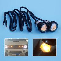 2Pcs 23mm Amber LED Eagle DRL Backup Light Lamp for Jeep TJ CJ JK YJ Wrangler