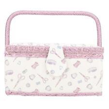 Fabric Sewing Craft Box Household Storage Organizer Basket Large Storage