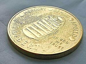 Apollo Astronaut Gold Coin Moon Landing 50th Anniversary Space Race Rocket Ship