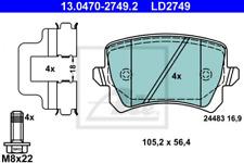 Ceramic Bremsbelagsatz, Scheibenbremse Hinterachse ATE 13.0470-2749.2