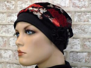 Reversible 2 in 1 - Jersey Hat Head wear for Hair Loss, Leukemia,Cancer,Chemo,
