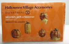 "New ListingDept 56 Halloween Village ""Wretched Jack-O-Lanterns"" Brand New"