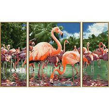 Flamingos Schipper 609260782 Malen nach Zahlen Triptychon Flamingo aus QVC beka