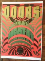 THE DOORS PSYCHEDELIC RAGAMUFFINS CONCERT POSTER / A3 / THICK CARD /MINT(new)