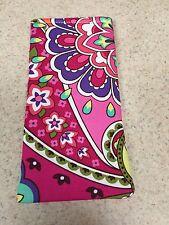 Eyeglass / Sunglass Soft  Fabric Case - Designer Vera Bradley - Pink Swirl Print