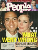 People July 16 2001 Julia Roberts Benjamin Bratt Jack Lemmon Oprah Winfrey