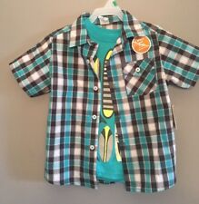 Healthtex Toddler Boy Woven Shirt & Graphic Tee Set, Size: 5T Teal