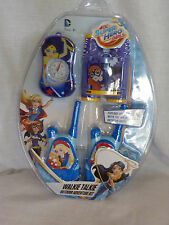 Sakar DC Super Hero Girls Walkie Talkie Outdoor Adventure Kit NIP 4 Piece Set