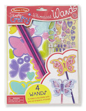 Melissa and Doug Simply Crafty Whimsical Butterfly Wands #9489 New Sealed