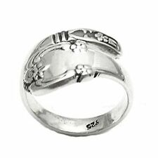 .925 Sterling Silver Glamorous Spoon Ring 6,7,8