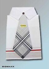 3er Pack Herren Taschentücher Oberhemd Hemd mit Krawatte Geschenkset