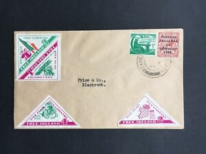 IRELAND 1963? COVER WITH FREE IRELAND TRIANGULAR CINDERELLA LABELS