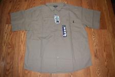 Men's Eddie Bauer L Expedition Khaki Short Sleeve Button Front Shirt MRP Beige Large