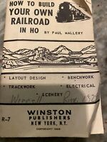 How to Build Your Own Railroad in HO Paul Mallery Union NJ 1965 Rare Unique