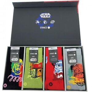 2021 Stance x Star Wars Buffed Box Chewie Vader Boba Crew Socks Large Men's 9-13