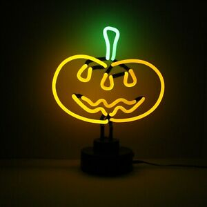 Halloween Neon Sign PUMPKIN Light Sculpture Table Window Party Decoration Lamp