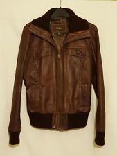 hElium Tan Brown Genuine Leather Jacket Ladies UK Size 16