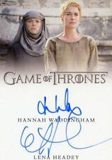 EL Game of Thrones Complete Dual Autograph card Hannah Waddingham & Lena Headey
