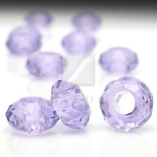 10pcs Crystal Rondelle Beads Large Hole Center Drilled Jewellery 14x14x8mm OB