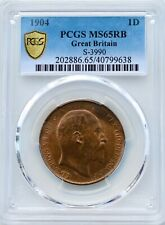 More details for  1904 edward vii penny pcgs ms65 red/brown rb great britain