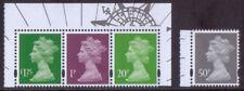GB 2018 1p, 20p, 50p and £1.25 machin stamps ex. Harry Potter prestige book MPIL
