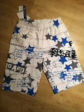 Mens swim boxer shorts, Faster Taiwan, XtraLife Lycra, Size L, white blue