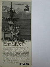 2/1974 PUB KAMAN HELICOPTER SH-2F LAMPS SEASPRITE US NAVY LOGISTICS SAR AD