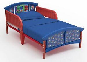 Delta Children PJ Masks Plastic Toddler Bed, Red and Blue