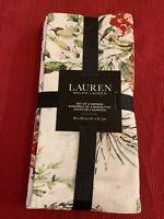 Ralph Lauren Christmas Pine Cone pattern 20 X 20 100%  Cotton set/4 Napkins NWT