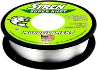 Stren Super Knot Self-lubricating Clear Monofilament Fishing Line (Select size)