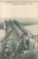 Postcard WW1 Damaged Bridge at  Verberie unposted