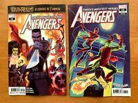 AVENGERS #16 Marquez Main + Greg Hildebrandt Variant Set Marvel 2019 NM+