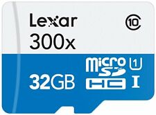 Lexar High Performance microSDHC 300 x 32GB UHS-I Card with SD Adapter