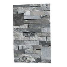 3D Wall Paper Brick Stone Effect Self-adhesive Wall Stickers Decor-Gray