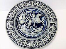 VTG Gerz German Pottery Plate Wall Art Battle Scene Blue & Gray