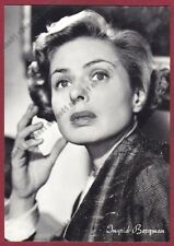 INGRID BERGMAN 16 ATTRICE ACTRESS CINEMA MOVIE SWEDEN SVERIGE Cartolina v. 1958