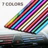 10 Pcs Car Accessories AUTO Colorful Air Conditioner Air Outlet Decoration Strip